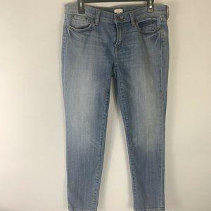 J.Crew Light/Medium Wash Skinny Jeans Wm Sz 28